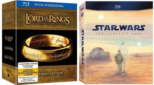 Władca Pierścieni i Gwiezdne Wojny na Blu-ray