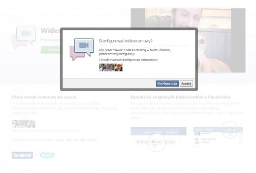 Facebook i Skype - konfiguracja wideorozmowy