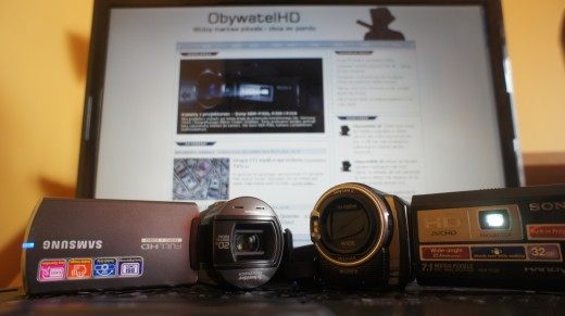Samsung HMX-Q10TP i Sony HDR-PJ30.