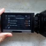 Sony HDR-PJ30 - ekran lampa