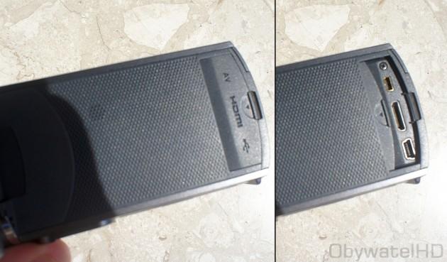 Samsung HMX-Q10 - złącza