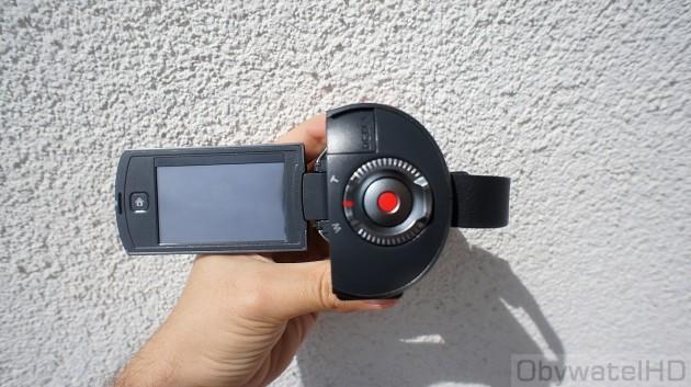 Samsung HMX-Q10 - główny przycisk i zoom