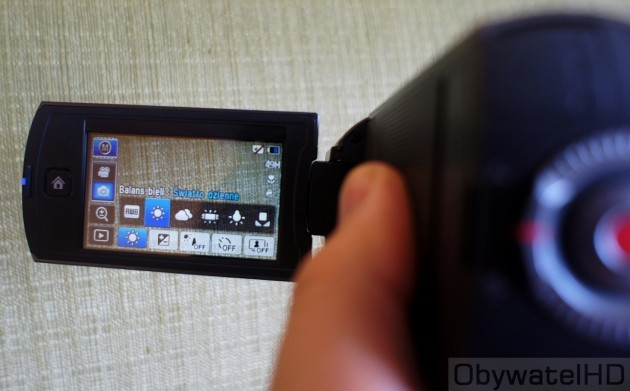 Samsung HMX-Q10 - ustawienia ręczne