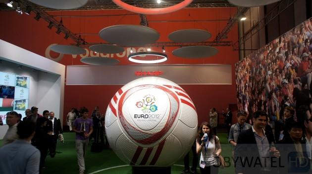 IFA 2011 - wielka piłka na stoisku Sharpa