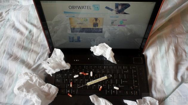 Gadżety podczas choroby - laptop