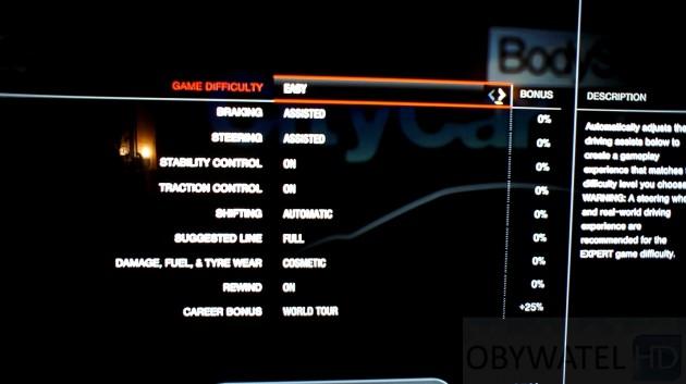 Forza Motorsport 4 poziom trudności