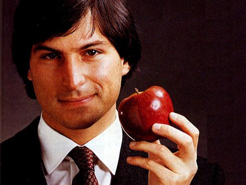 Steve Jobs z jabłkiem