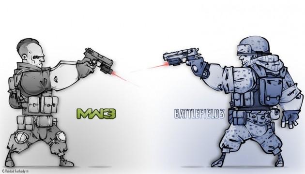 Battlefield 3 VS Modern Warfare 3 Fot. Vandad-Farhady Deviant Art
