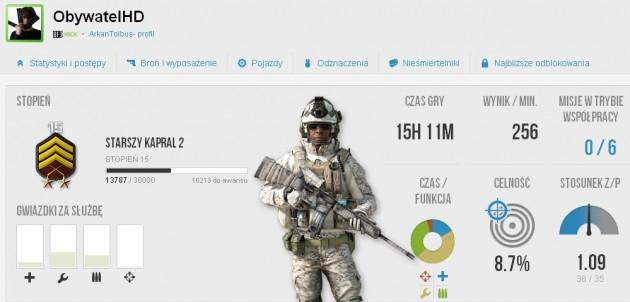 Battlefield 3 moje statystyki