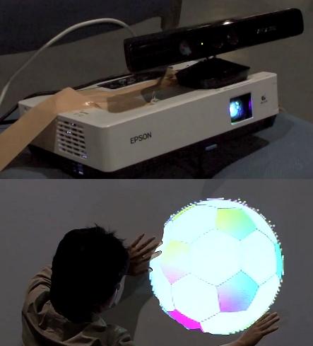 Kinect i projektor