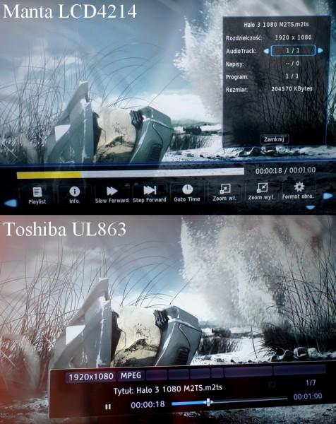 Manta LCD4214 - trailer Halo 3 na Mancie i Toshibie
