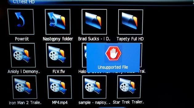 Manta LCD4214 - niewspierany format