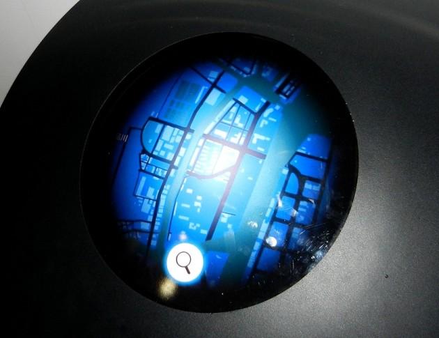 Samochód przyszłości według Mitsubishi Electric - ekran GPS