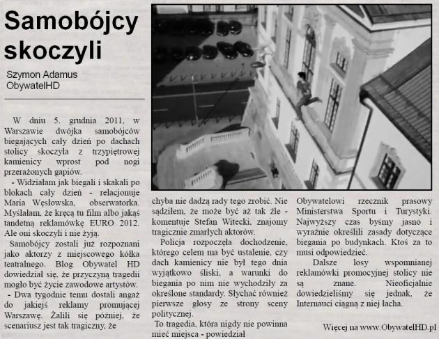 Warszawa 2012 Samobójcy skoczyli