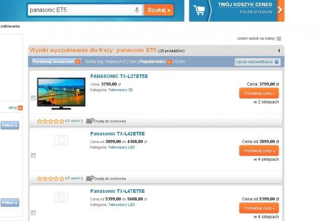 Panasonic ET5 na Ceneo