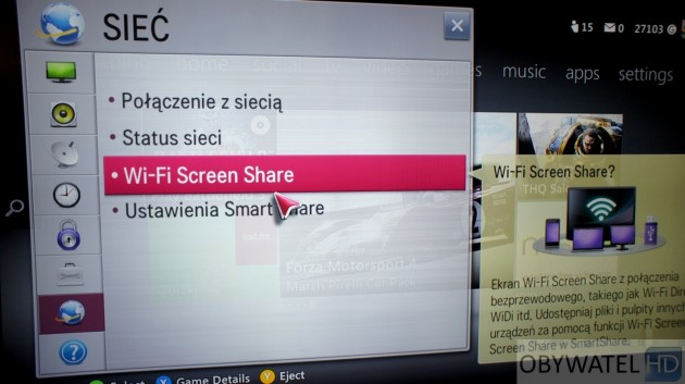 LG LM670S - Screen Share