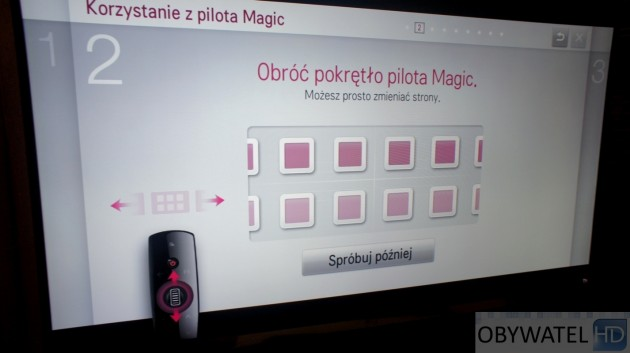 LG LM670S - pokrętło Magic
