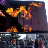 OLED LG - ogień