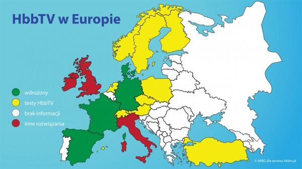 Hbb TV w Europie