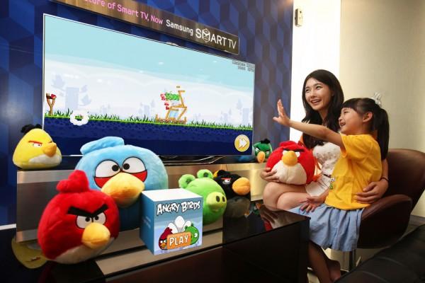 Angry Birds sterowane gestem