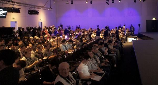 Dziennikarze na konferencji Samsunga
