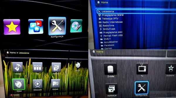 Dune HD TV-303D - różne motywy menu