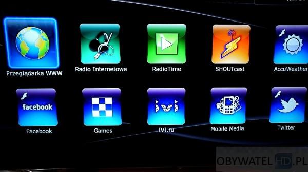 Dune HD TV-303D - aplikacje