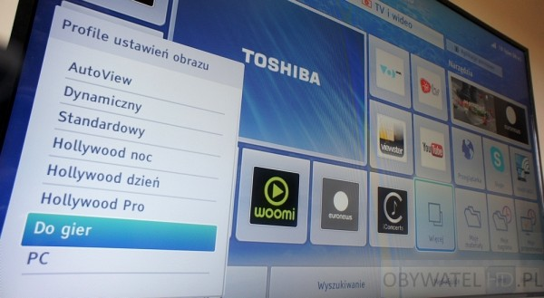 Toshiba 58L7365 - tryb do gier