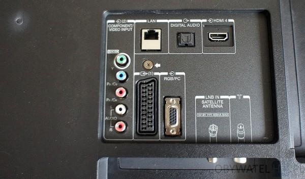 Toshiba 58L7365 - wtyczki