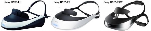 Sony HMZ-T1, T2 i T3
