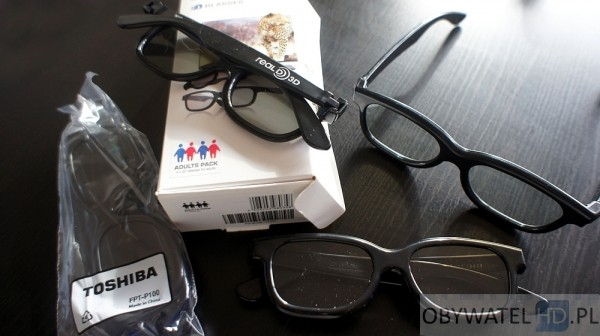 Toshiba L9363DG - okulary 3D