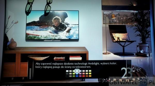 Philips 8008 - Ambilight ustawienia koloru ściany