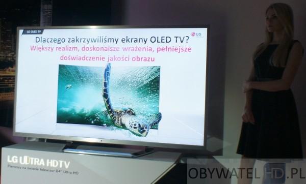OLED LG 55EA98 dlaczego wygięty ekran