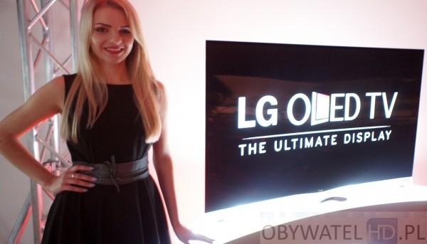 OLED LG 55EA98 dziewczyna