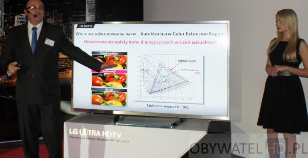 OLED LG 55EA98 odwzorowanie barw