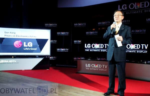 OLED LG 55EA98 prezez Don Kang