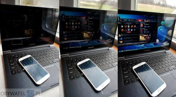 Samsung ATIV Book 9 Plus - podświetlanie matrycy