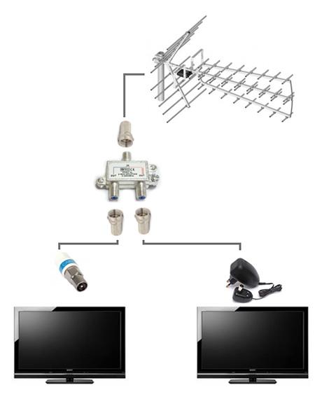 Schemat - antena ze wzmacniaczem