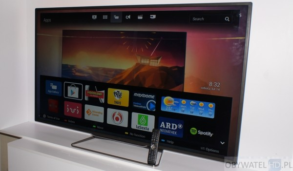 Philips Android TV główne menu