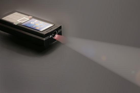 Telefon z projektorem