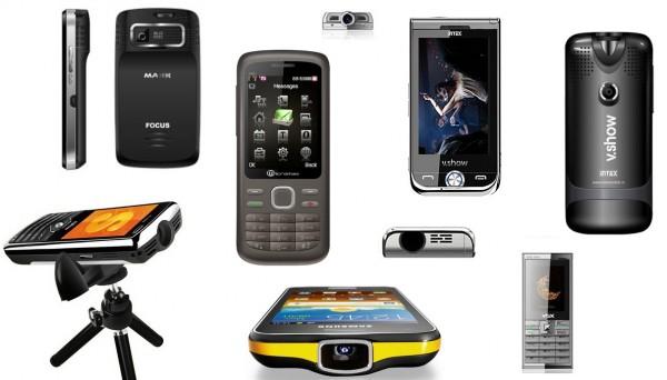 Telefony z projektorami