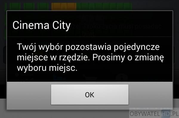 Cinema City - wolne miejsce