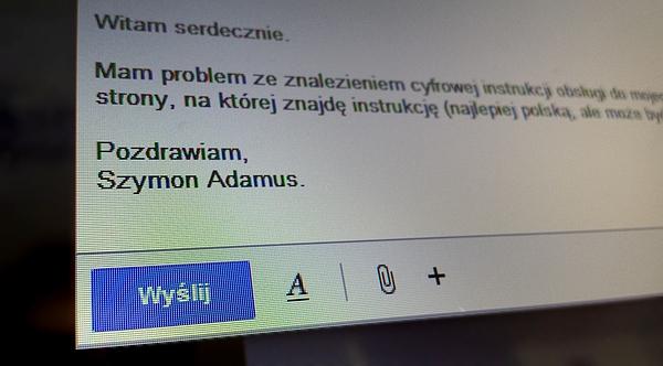 Obsluga klienta - mail