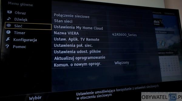 Panasonic TX-42AS600E - Ustawienia telewizora