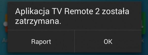 Panasonic TX-42AS600E - remote TV app zawiesiła się