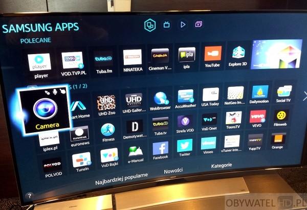 Samsungu HU8500 - aplikacje Smart TV