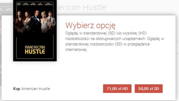 Filmy w Google play - American Hustle