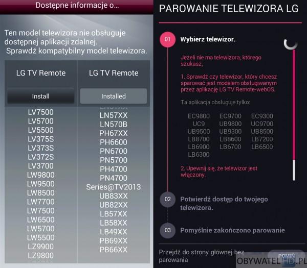 LG UB850V - aplikacje na smartfon