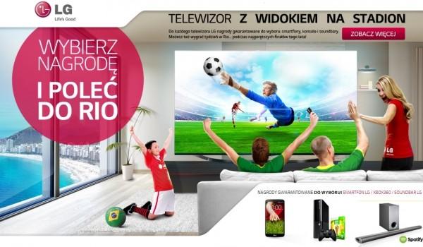 LG - telewizor z widokiem na stadion
