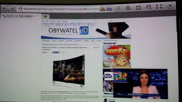 OLED LG 55EA980 - www i podgląd TV